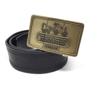 Coach Logo Belt